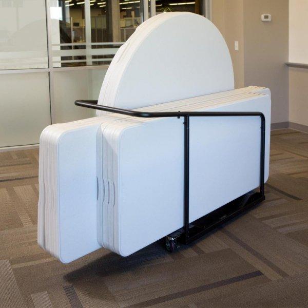 Wózek na 10 stołów z kółkami obrotowymi (czarny) 80339