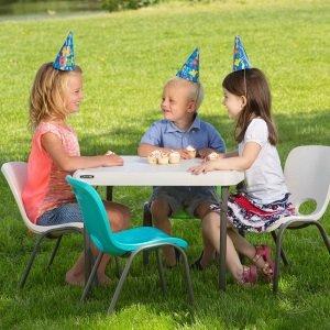 Półkomercyjne krzesło dla dzieci do piętrowania (zielony) 80393