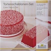 Szablony do dekoracji tortów CURLS - 2 szt. Birkmann