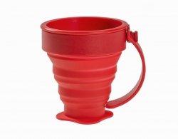 Kubek składany silikonowy Rockland 200 ml Red (180RED)