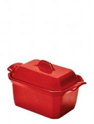 Naczynie do terriny lub pasztetu z praską, małe - czerwone Emile Henry