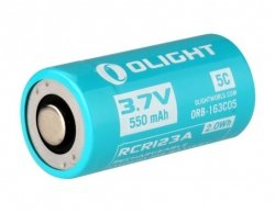 Akumulator 3,7V Olight RCR123/IMR16340 550 mAh