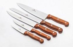 Gerlach 959A Country - komplet noży kuchennych (5 szt.) w bloku PLUS ostrzałka!
