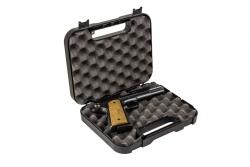 Kufer na pistolet Megaline 24,5x17,8x3,9 cm czarny z czarnymi klamrami