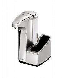Dozownik bezdotykowy z pojemnikiem na gąbkę srebrny Simplehuman