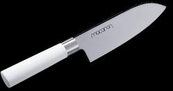 Satake Macaron White Nóż Santoku 17 cm