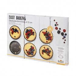 Formy do tartaletek EASY BAKING - 12 cm - 6 szt / Birkmann