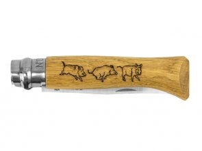 Nóż Opinel 8 inox buk Animal - dzik
