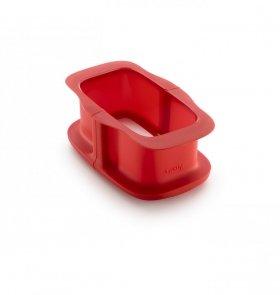 Forma prostokątna (keksówka) DUO 15 cm - czerwona Lekue