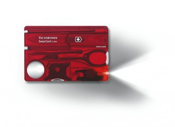 Victorinox SwissCard Lite 0.7300.T Red Translucent