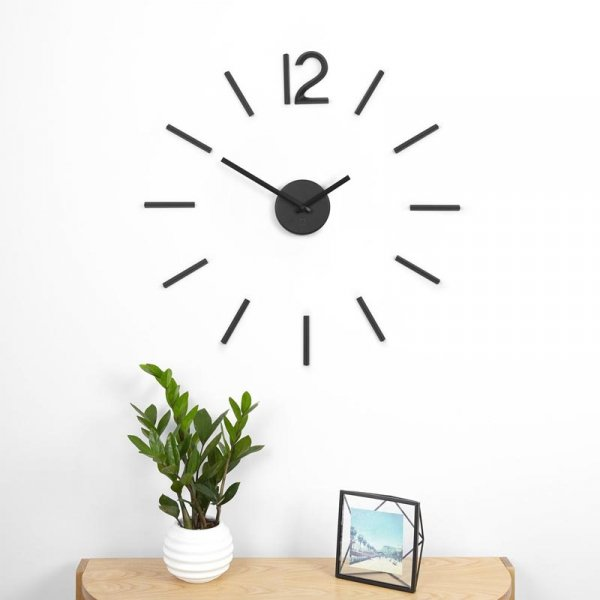 UMBRA - Zegar ścienny, czarny, Blink