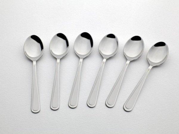 Gerlach Antica - komplet łyżeczek do kawy 6 szt. dla 6 osób, matowione