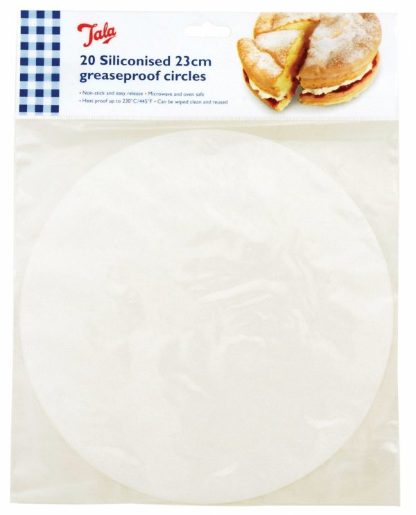 Kółka papierowe do pieczenia silikonowane - 20 szt Tala