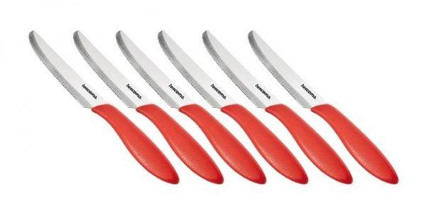 Nóż stołowy PRESTO 12 cm, 6 szt., czerwony