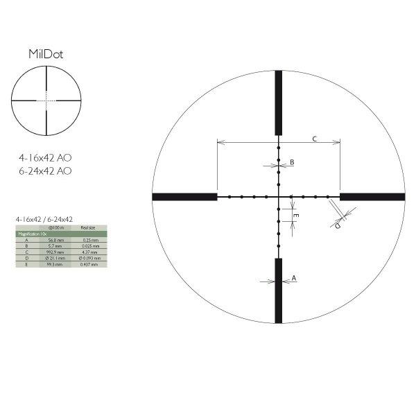 Luneta  Delta Optical Titanium 6-24x42AO MD