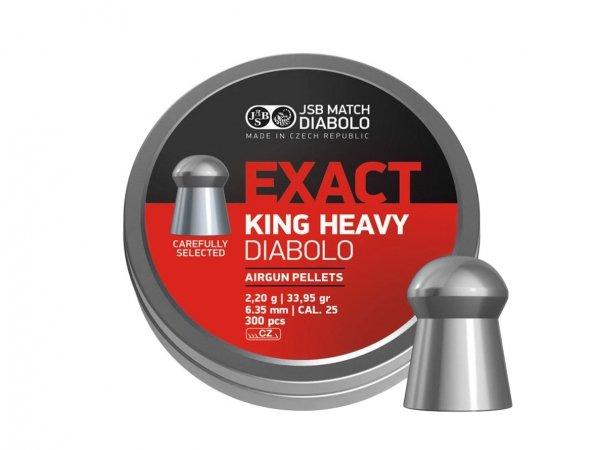 Śrut diabolo JSB Exact King Heavy 6,35 mm 300 szt.