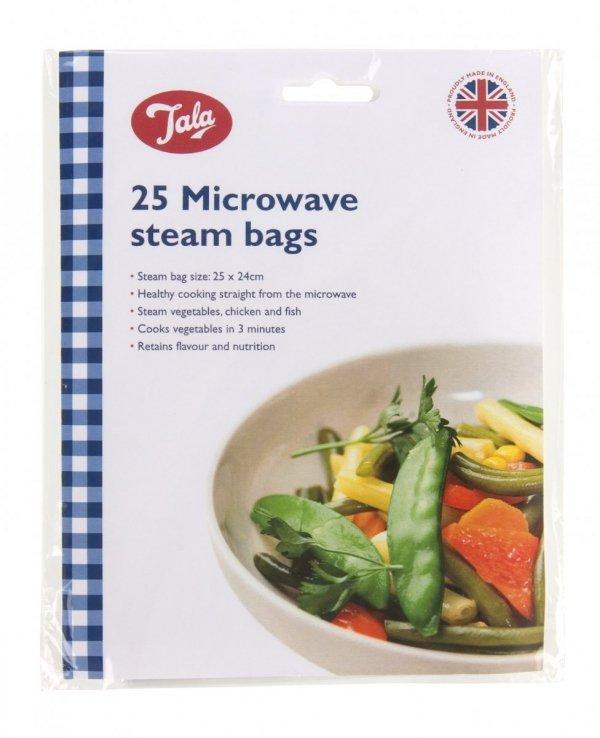 Woreczki do gotowania na parze w kuchence mikrofalowej - 25 szt. Tala