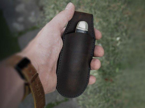 Etui magnetyczne Boker Solingen, brązowe, małe