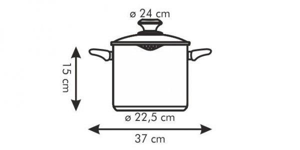 Garnek PRESTO z dzióbkiem i pokrywką 24 cm, 6 l Tescoma