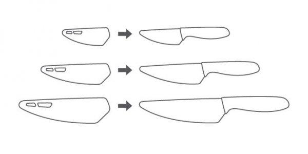 Nóż z ostrzem ceramicznym VITAMINO  9 cm Tescoma