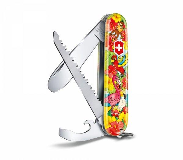 """Zestaw dla dzieci scyzoryk My First Victorinox, zwierzęca edycja Papuga """"Ari"""" 0.2373.E3"""