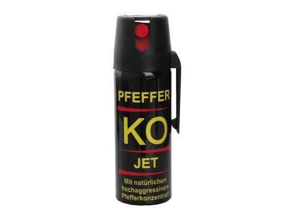 Gaz obronny pieprzowy KO JET 50 ml - strumień