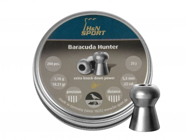 Śrut diabolo H&N Baracuda Hunter 5,5 mm 200 szt.
