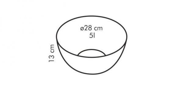 Szklana miska GIRO 28 cm