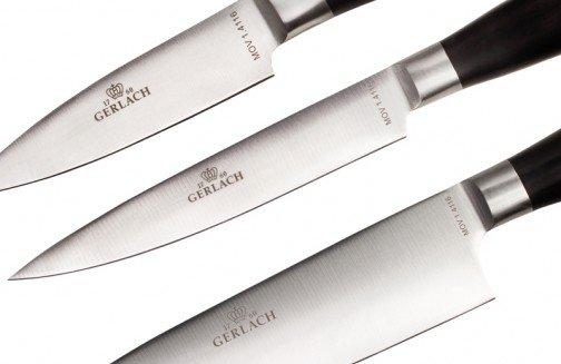 Gerlach 991A Deco Black - komplet noży kuchennych (5 szt.) w bloku