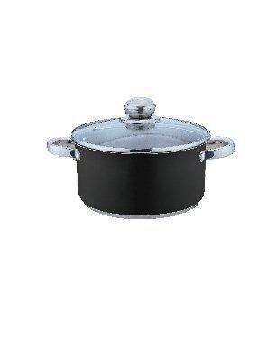 Kinghoff Garnek 0,5l Czarny KH-4532