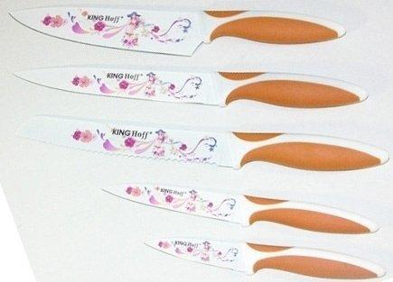 Nóż 8'' z powłoką nieprzywieralną KH-3631 pomarańczow