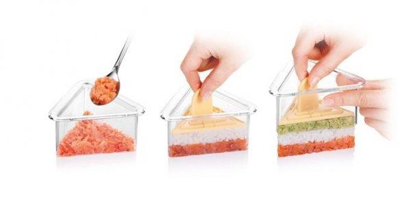 Foremki do formowania potraw PRESTO FoodStyle, trójkąty, 3 szt. Tescoma