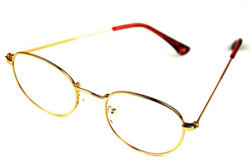Gemis +2,0  - Okulary Korekcyjne do pracy przy komputerze - Złote