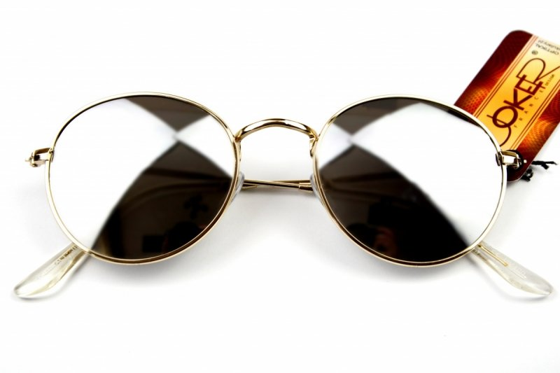 Lenonki - Okulary Przeciwsłoneczne - Srebrne