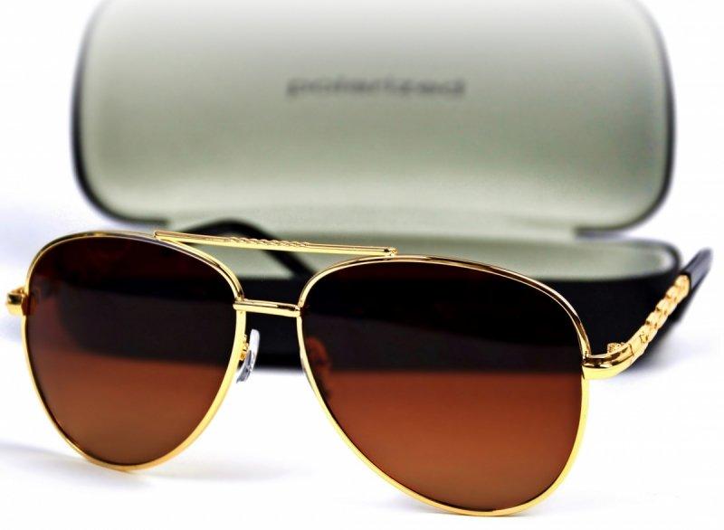 Gold Card - Okulary Polaryzacyjne - Brązowe