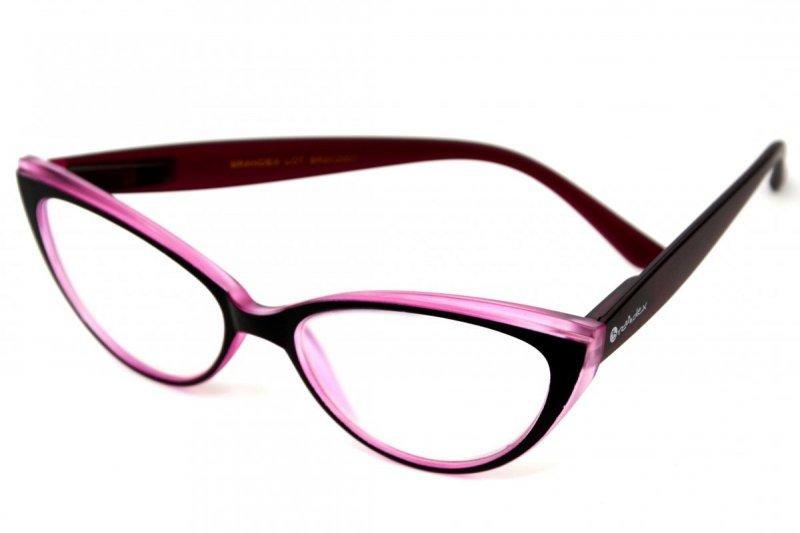 Claw +2,5 - Okulary Korekcyjne z Antyrefleksem - Róż