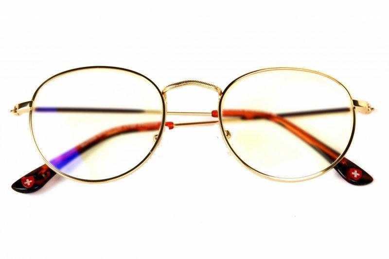 Gemis +1,0  - Okulary Korekcyjne do pracy przy komputerze - Złote
