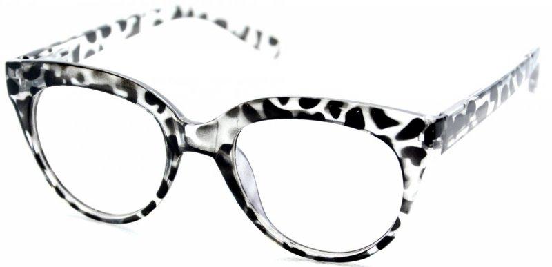 Cat Lady - Okulary Zerówki z Antyrefleksem - Zebra