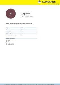 KRĄŻEK FIBROWY CS561 GRANULACJA 120 180MM 11066