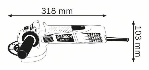 SZLIFIERKA KĄTOWA 125MM GWS 7-125 720W RSP