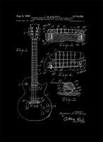 Patent Gitara Elektryczna Projekt 1955  - retro plakat
