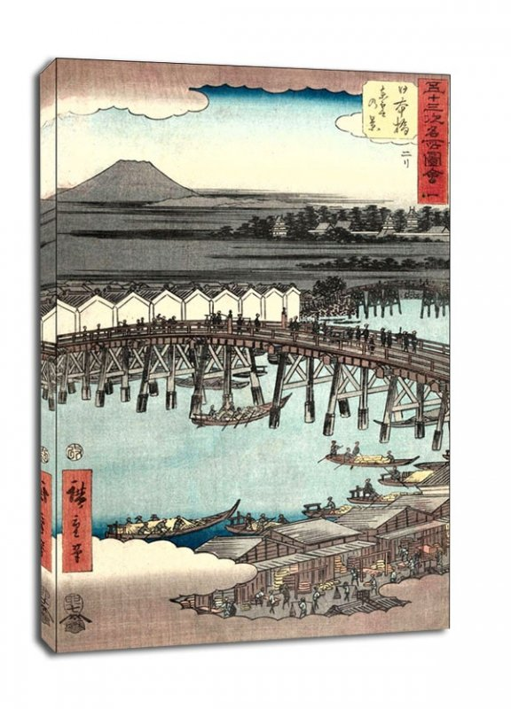 Nihonbashi View of Dawn Clouds, Hiroshige - obraz na płótnie