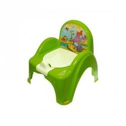 Nocnik-krzesełko safari z pozytywką zielony