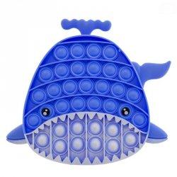 Pop it wieloryb niebieski