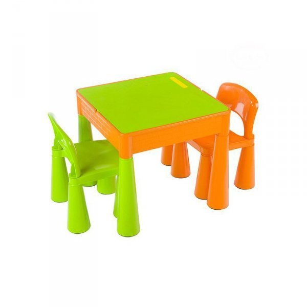 Komplet mamut pomarań-zielony
