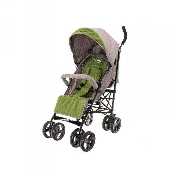 Wózek spacerowy smart pro beżowo-zielony
