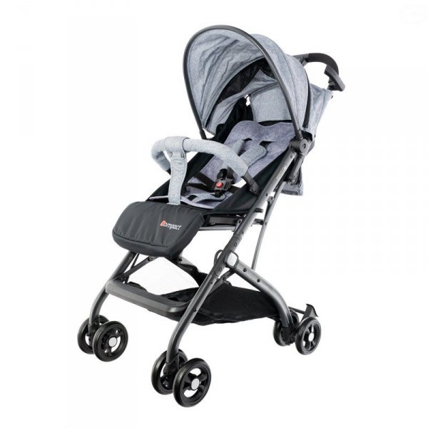 Wózek dla dzieci compact walizka grey