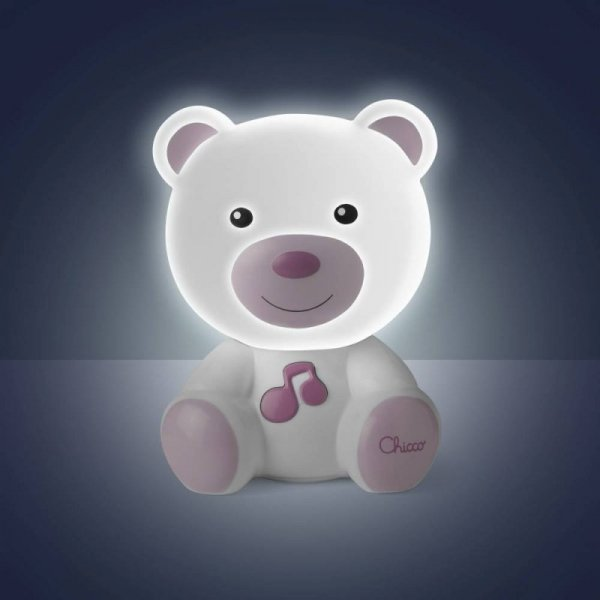 Nocna lampka różowa