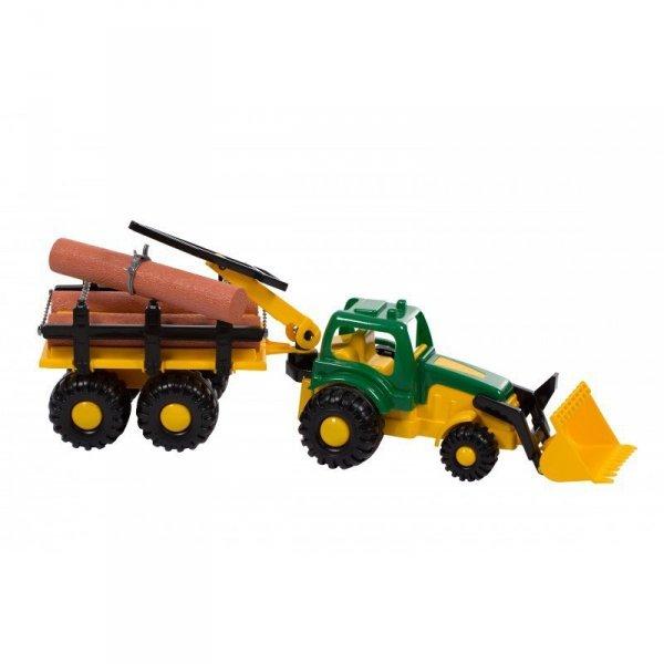 Traktor master z drewnem