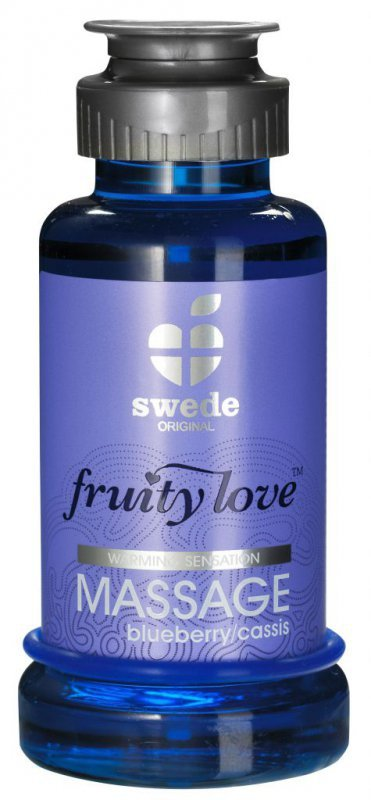 Owocowy olejek do masażu - Swede Fruity Love Massage Blueberry/Cassis 100 m Jagoda Porzeczka